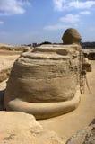 Vue arrière du sphinx, course du Caire, Egypte Image libre de droits