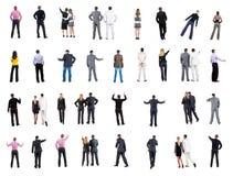 Vue arrière de collection des gens d'affaires Image stock