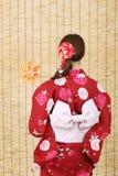 Vue arrière de jeune femme asiatique Photos stock