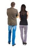 Vue arrière de jeunes couples Images stock