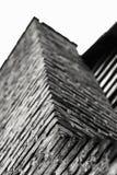Vue ascendante de cheminée de brique Photographie stock