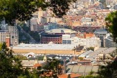 Vue au centre commercial des arènes De Barcelone de Las dans le ` Espanya, Barcelone, Catalogne, Espagne de Placa d Images libres de droits