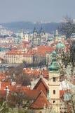 Vue au centre historique de Prague, République Tchèque Photo libre de droits