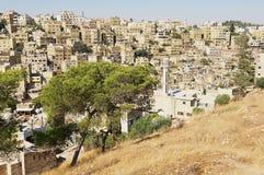 Vue au centre ville avec les bâtiments résidentiels de la colline de citadelle à Amman, Jordanie Photo libre de droits