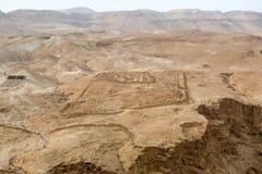 Vue au désert de Masada images stock