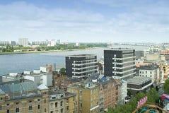 Vue au-dessus d'Anvers (côté droit et gauche) Image libre de droits