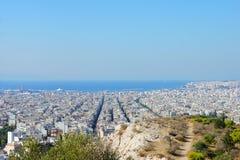 Vue au-dessus d'Athènes Photo libre de droits