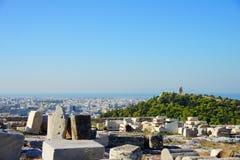 Vue au-dessus d'Athènes Photo stock