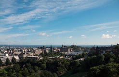 Vue au-dessus d'Edimbourg, Ecosse Photo stock