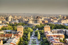 Vue au-dessus d'Erevan Images libres de droits