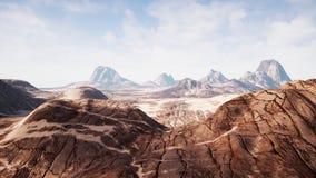 Vue au-dessus d'un beau canyon de redrock de désert rendu 3d Photo libre de droits