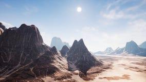 Vue au-dessus d'un beau canyon de redrock de désert rendu 3d Photographie stock
