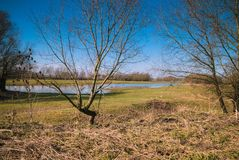 Vue au-dessus d'un paysage néerlandais Image libre de droits