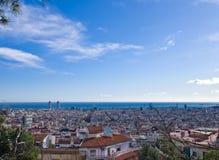 Vue au-dessus de Barcelone Photos libres de droits