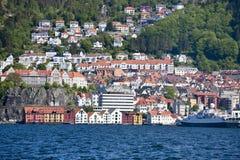 Vue au-dessus de Bergen Images libres de droits