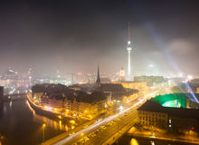 Vue au-dessus de Berlin de nouvelles années Ève 2013 Image libre de droits