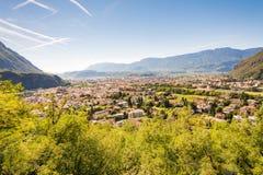 Vue au-dessus de Bolzano Photos stock