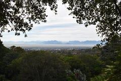 Vue au-dessus de Cape Town du jardin botanique en Afrique du Sud Images libres de droits