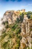 Vue au-dessus de château médiéval de Vénus dans Erice, Sicile Photo stock