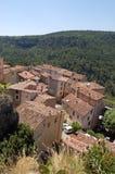 Vue au-dessus de Chateaudouble Images stock