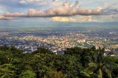 Vue au-dessus de Chiang Mai Image libre de droits