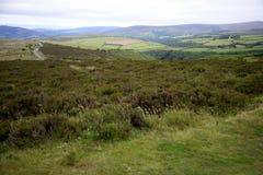 Vue au-dessus de colline de Porlock, Exmoor Image libre de droits
