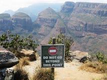Vue au-dessus de Drake Mountains Afrique du Sud Image libre de droits