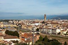 Vue au-dessus de Florence Image libre de droits