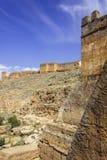 Vue au-dessus de forteresse de ville de Kasba Tadla dans la province de Beni-Mellal, Tad Image libre de droits