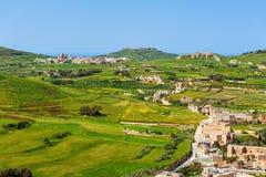 Vue au-dessus de Gozo Malte Images libres de droits