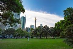 Vue au-dessus de Hyde Park Sydney Photos libres de droits