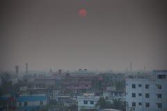 Vue au-dessus de Khulnâ au Bangladesh Photo stock