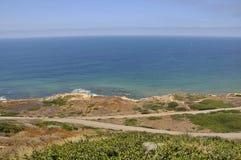 Vue au-dessus de l'océan pacifique du point de Cabrillo Photographie stock libre de droits