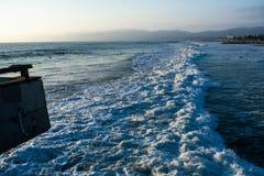 Vue au-dessus de l'océan pacifique et de Los Angeles photographie stock