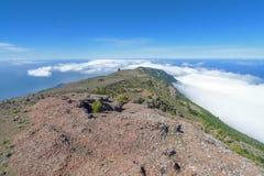 Vue au-dessus de l'ouest de l'EL Hierro Photo libre de droits