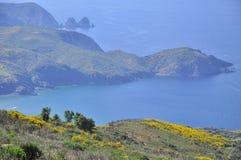 Vue au-dessus de la baie de Seraidi, Algérie Image stock