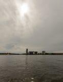 Vue au-dessus de la baie E de Cardiff Photographie stock libre de droits