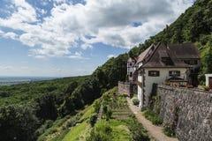 Vue au-dessus de la campagne renversante de roulement d'Alsace, France Photos libres de droits