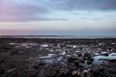 Vue au-dessus de la mer aux Pays-Bas images libres de droits