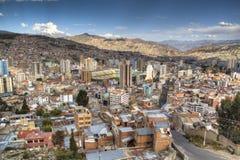 Vue au-dessus de La Paz Photographie stock