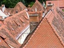 Vue au-dessus de la place principale et du Herrengasse de Grazer Images stock