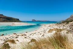 Vue au-dessus de la plage. Crète, Grèce Photos stock