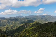 Vue au-dessus de la région Guantanamo Cuba d'Alejandro de Humboldt National Park Site de patrimoine mondial de l'UNESCO photo libre de droits