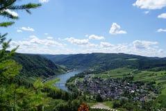 Vue au-dessus de la vallée de moule de la Moselle Moezel photos stock