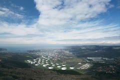 Vue au-dessus de la ville Photos libres de droits