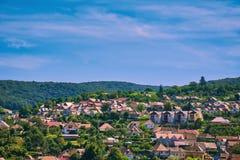 Vue au-dessus de la ville de Sighisoara Photographie stock