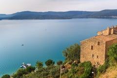 Vue au-dessus de Lac de Sainte Croix, Verdon, Provence Photographie stock libre de droits