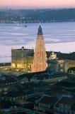 Vue au-dessus de Lisbonne Image stock