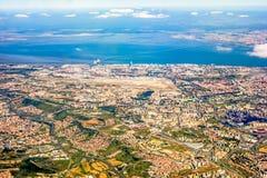 Vue au-dessus de Lisbonne Images stock
