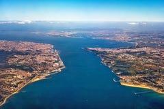 Vue au-dessus de Lisbonne Photos stock
